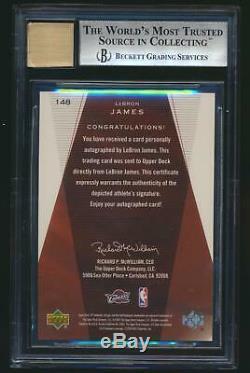 2003 SP Authentic LEBRON JAMES Rookie BGS 8.5 Auto 10