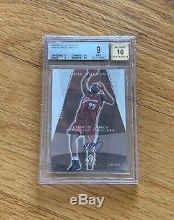 2003 SP Authentic LeBron James Rookie Auto Autograph /500 BGS 9/10.5 from GEM