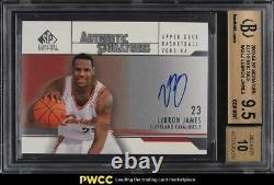 2003 SP Signature Edition LeBron James ROOKIE RC AUTO BGS 9.5 GEM MINT
