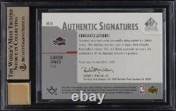 2003 SP Signature Edition LeBron James ROOKIE RC AUTO #LJ BGS 9.5 GEM MT