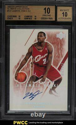 2003 Ultimate Collection LeBron James ROOKIE AUTO /250 #127 BGS 10 BLACK LABEL
