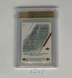 2003 Ultimate Collection LeBron James ROOKIE RC AUTO 016/250 #127 BGS 9.5