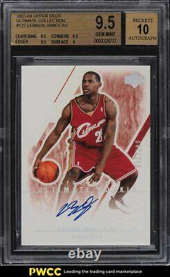 2003 Ultimate Collection LeBron James ROOKIE RC AUTO /250 #127 BGS 9.5