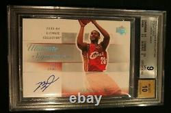2003 Ultimate Collection Signatures LEBRON JAMES Rookie Auto Bgs 9 Three 9.5 Sub
