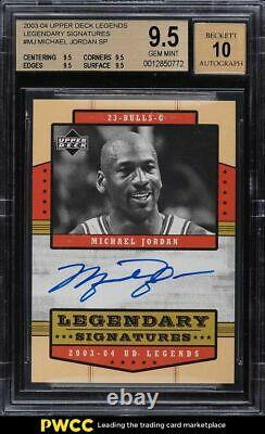 2003 Upper Deck Legends Legendary Signatures Michael Jordan AUTO BGS 9.5 GEM MT