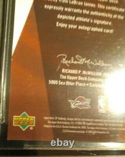 2003 Upper Deck Sp Authentic LEBRON JAMES Rookie Autograph Bgs 7.5 /10 Auto /500