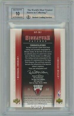 2004-05 UD Ultimate Collection Michael Jordan Signature Patches/25 BGS 9 Auto 10