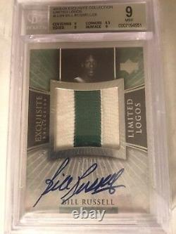 2005-06 EXQUISITE BILL RUSSELL LIMITED LOGOS BGS 9 Auto 10 /28