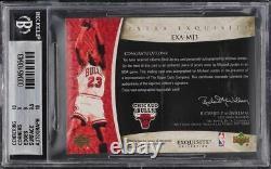 2005 Exquisite Collection Extra Michael Jordan PATCH AUTO /5 #MJ3 BGS 9 MINT