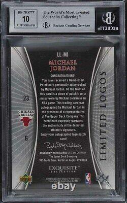 2005 Exquisite Collection Limited Logos Michael Jordan PATCH AUTO 23/50 BGS 9