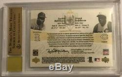 2005 Ultimate Signature ROYs Frank & Jackie Robinson Cut Autographs Auto BGS 9.5