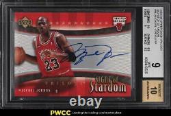 2005 Upper Deck Trilogy Signs Of Stardom Michael Jordan SP AUTO #MJ BGS 9 MINT