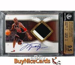2006-07 Michael Jordan Exquisite Autograph Patches Patch Auto /100 BGS 9.5 / 10