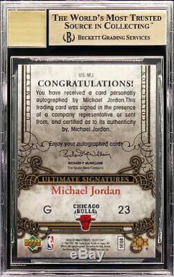 2006-07 Michael Jordan Upper Deck Ultimate Collection SP Auto BGS 9.5 Pop 3