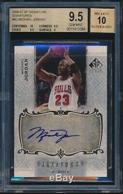 2006-07 Sp Signature Edition Michael Jordan Auto Autograph Sp Bgs 9.5