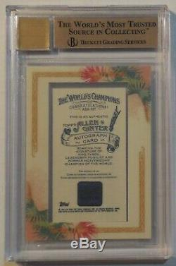 2006 Topps Allen & Ginter Mike Tyson Autograph /200 BGS 9.5/10 Auto
