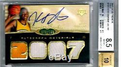 2007-08 UD PREMIER GOLD AUTOGRAPH #101 Kevin Durant Auto RC BGS 8.5 Auto 10