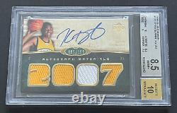 2007-08 UD Premier Kevin Durant KD RPA Rookie Patch Auto Card /199 Rc BGS 8.5/10