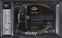 2007 Exquisite Black Mamba Inscriptions Kobe Bryant AUTO JSY # 24/25 BGS 7.5