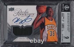2007 Exquisite Collection Kevin Durant ROOKIE RC PATCH AUTO /99 #94 BGS 9 PMJS