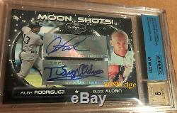 2007 Topps Moon Shots Dual Auto Alex Rodriguez + Buzz Aldrin -autograph Bas/bgs
