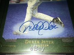 2007 UD Masterpieces 5x7 Box Toppers Jumbo Derek Jeter Autograph BGS 9.5 10 Auto