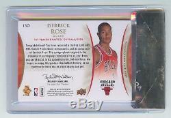 2008-09 Sp Authentic #130 Derrick Rose Autograph Auto Patch Rookie Rc Bgs 9