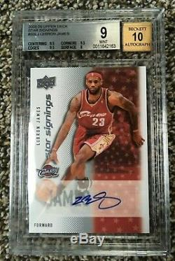 2008-09 Upper Deck Star Signings Autograph Lebron James BGS 9 Mint with10 Auto