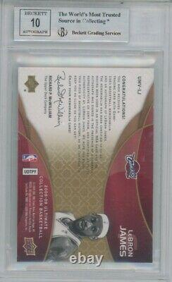 2008-09 Upper Deck Ultimate Lebron James BGS 9.5 Patch AUTO On Card /10 Rare