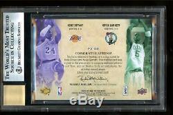 2008 Ud Premier Pairings Kobe Bryant Kevin Garnett Auto Autograph /25 Bgs 9/10