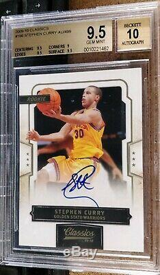 2009-10 Classics Stephen Curry Auto #140/499 BGS 9.5 Gem Mint