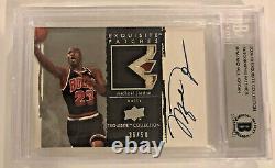 2009-10 Exquisite Michael Jordan Autograph Patch /50 BGS #PMJ AUTO RARE