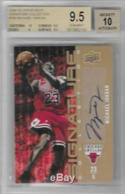 2009-10 Michael Jordan Upper Deck Signature Collection Auto. BGS 9.5 Gem Mint