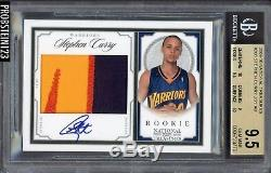 2009-10 National Treasures Stephen Curry RC Patch AUTO /99 BGS 9.5 with (2) 10's