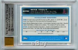 2009 Bowman Chrome Draft MIKE TROUT Autograph AUTO BGS 9 10.5 AWAY 9.5 3rd MVP