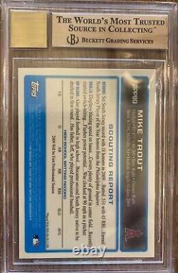 2009 Bowman Chrome Draft Mike Trout RC AUTO #BDPP89 BGS 9.5 GEM MINT 10 AUTO