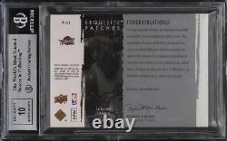 2009 Exquisite Collection LeBron James PATCH AUTO /50 #PLJ BGS 9 MINT