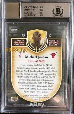 2009 Upper Deck Hall Of Fame Auto+game Floor Michael Jordan -bgs Autograph 10