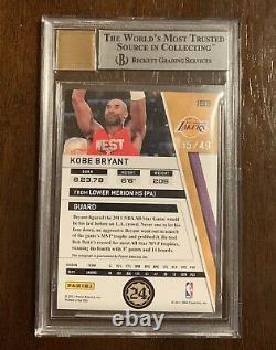 2010-11 Kobe Bryant Panini Season Update /49 BGS 9 On-Card Auto Lakers