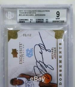 2011-12 UD Exquisite Michael Jordan ENDORSEMENTS Auto /50 BGS MINT 9 / Autograph