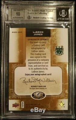 2011 UD All Time Greats LEBRON JAMES Autograph Bgs 8.5 /10 On Card Auto SICK /15