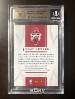 2012-13 Immaculate Jimmy Butler RC Rookie Auto Autograph Patch RPA 44/75 BGS 9.5