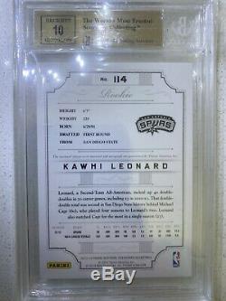 2012-13 National Treasures Kawhi Leonard RPA RC Rookie Patch AUTO BGS 9.5/10