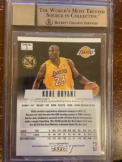 2012-13 PANINI PRIZM Auto Autograph KOBE BRYANT Lakers BGS GEM 9.5/10 W 2- 10's