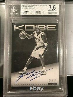 2012-13 Panini Kobe Anthology Autographs Auto Kobe Bryant #1 6/24 Bgs 7.5 Au 10