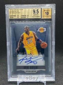 2012-13 Prizm Kobe Bryant On Card Autographs- First Prizm Auto- BGS 9.5 Lakers