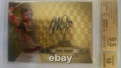 2012 Bowman Sterling Superfractor Mike Trout Rookie 1/1 RC BGS 9.5 Auto 10 Gem