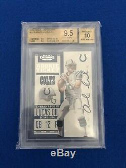 2012 Contenders #201 ANDREW LUCK RC BGS 9.5/10 Rookie Ticket AUTO Autograph