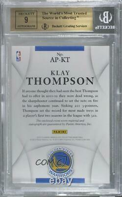 2012 Panini Immaculate /100 Klay Thompson #AP-KT BGS 9.5 RPA Rookie Patch Auto