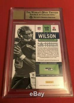 2012 Russell Wilson Contenders Rookie Ticket Auto BGS 9.5/10 RC Autograph